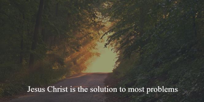 Jesus Christ Solution